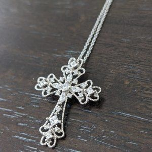 JTV Sterling Silver Bella Luce Cross Necklace